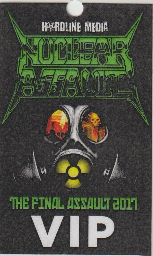 Image of NUCLEAR ASSAULT - Aussie Tour VIP Laminate