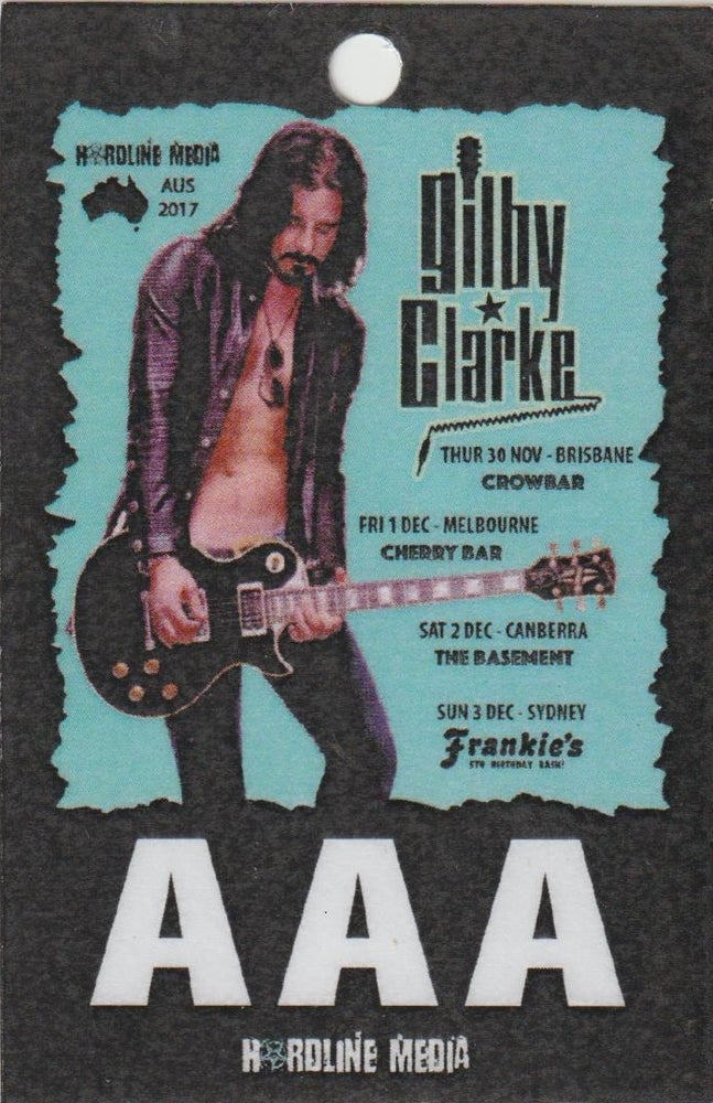 Image of GILBY CLARKE - Aussie Tour AAA Laminate ONLY 2 LEFT!!!