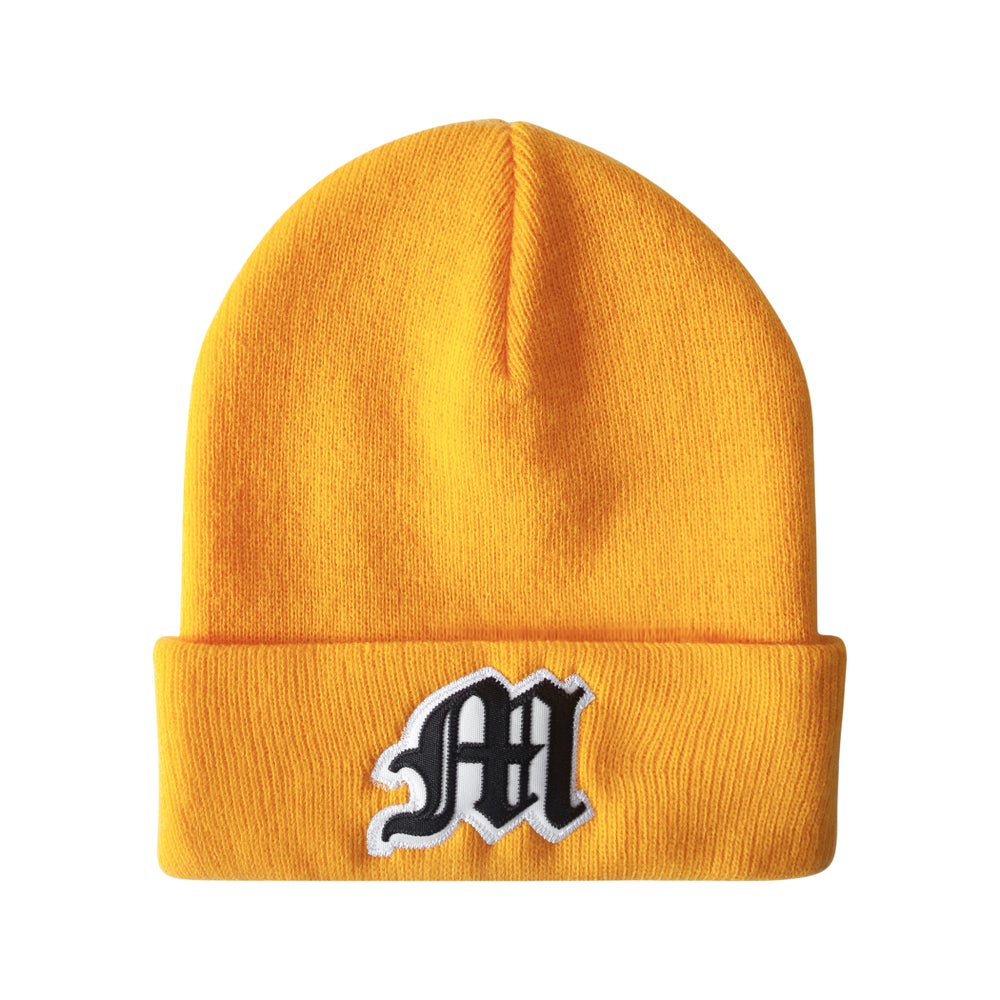Image of Tackle Twill Applique Beanie (Gold)
