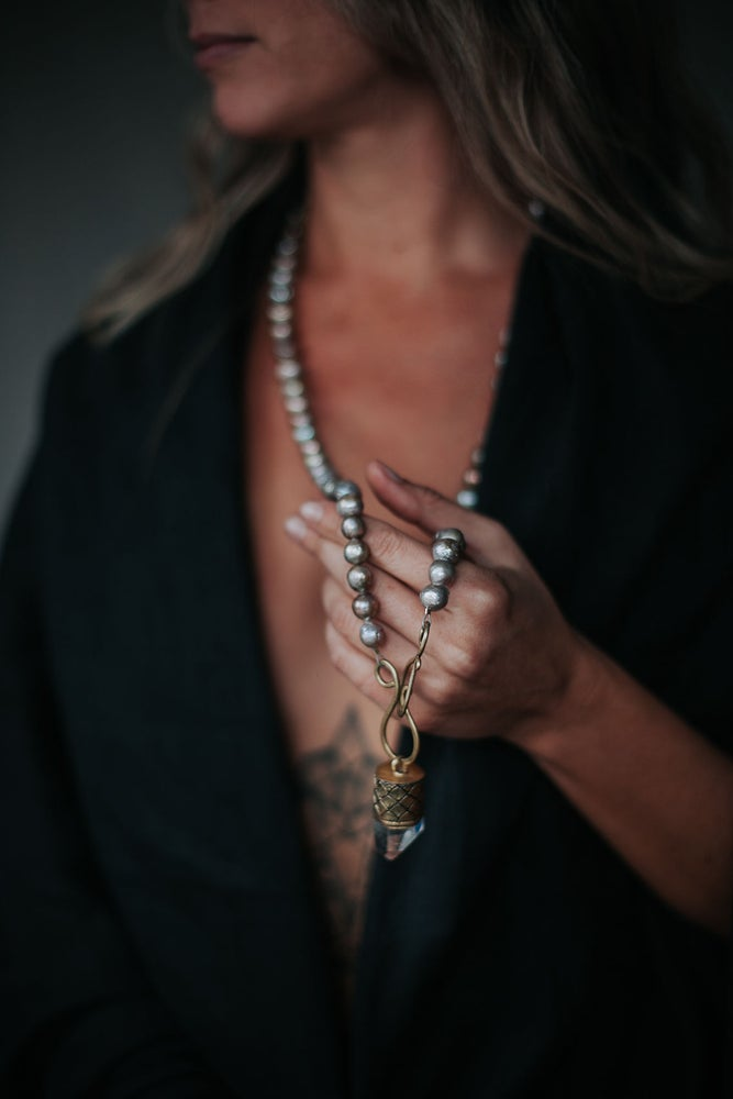 Image of EarthTone Long Pearl Necklace