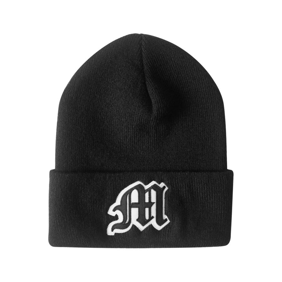 Image of Tackle Twill Applique Beanie (Black)