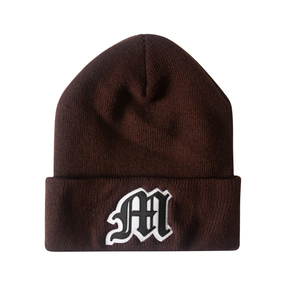 Image of Tackle Twill Applique Beanie (Brown)