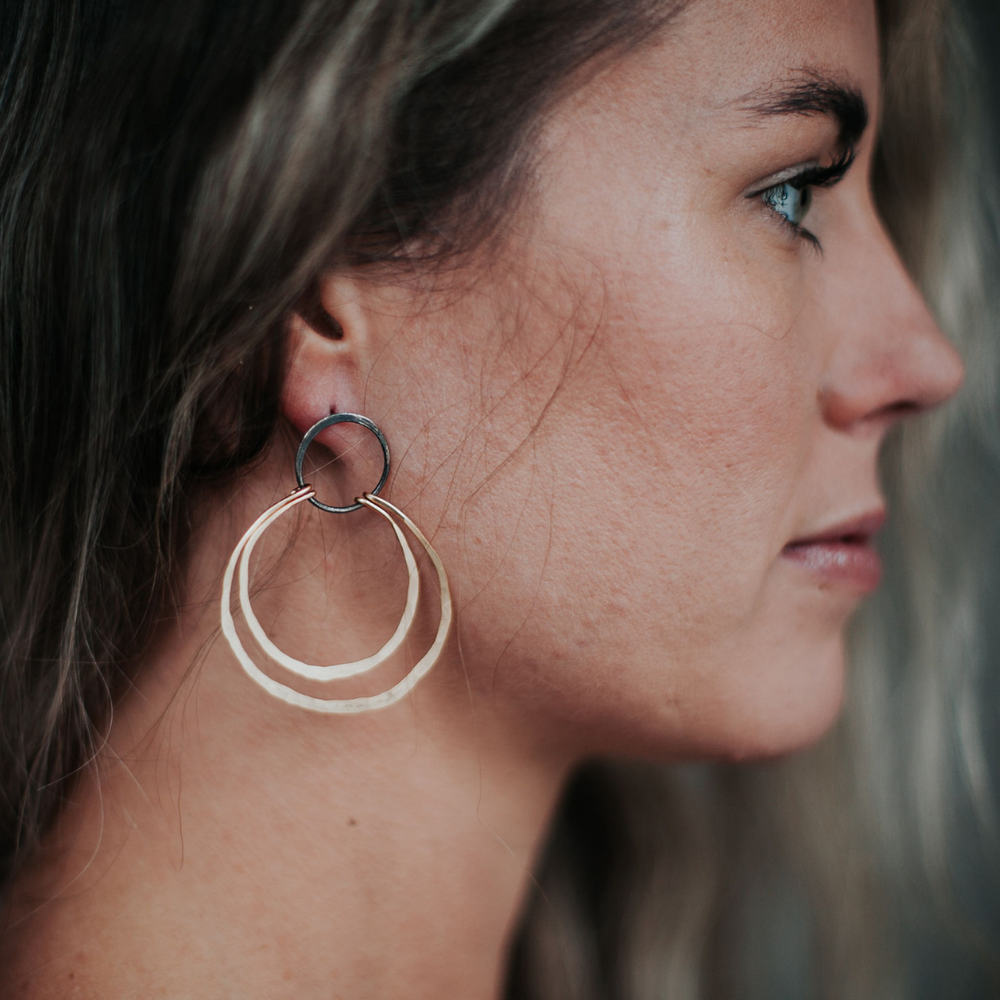 Image of Double Ring Hoops // Large