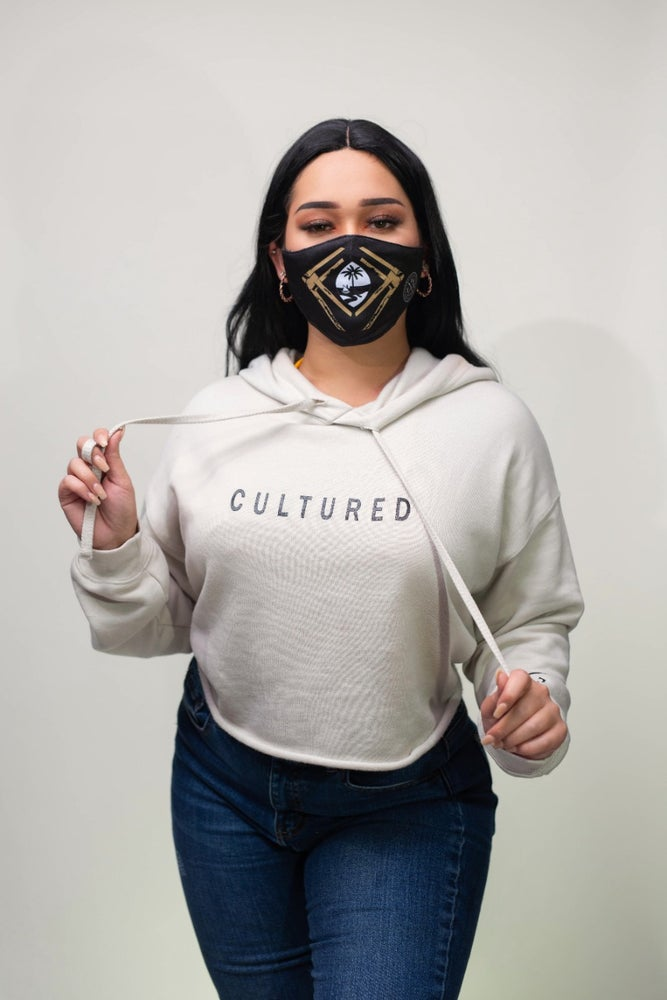 Image of CULTURED WOMENS CROPPED HOODIE
