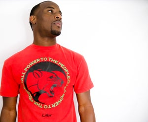 Image of PTTP VINTAGE TEE (RED MINERAL WASH)