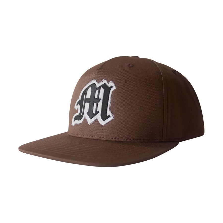 Image of Tackle Twill Applique Snapback (Brown)