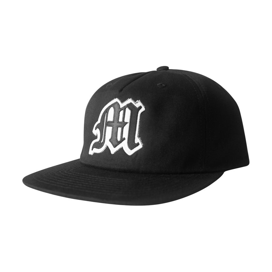 Image of Tackle Twill Applique Strapback (Black)