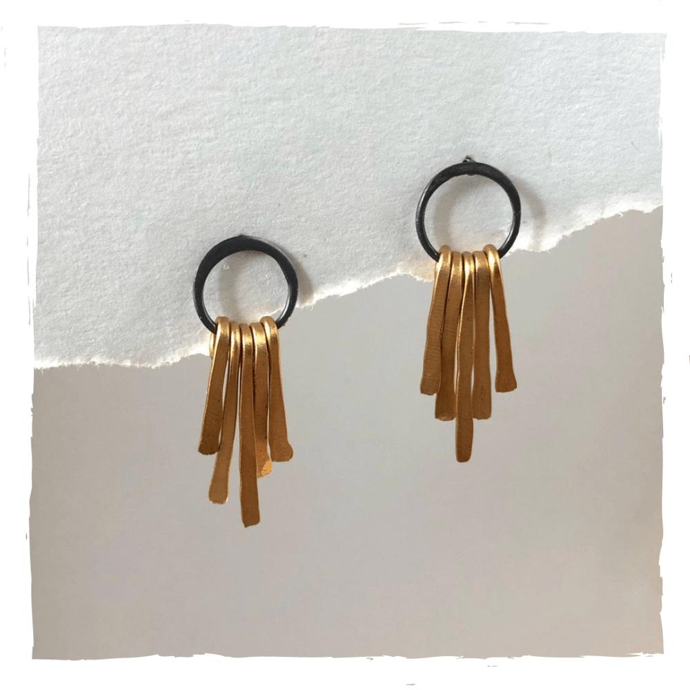 Image of Long Messy Fringe Post Earrings