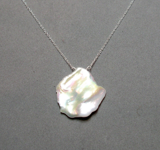 Image of Keishi Pearl Pendant // Large