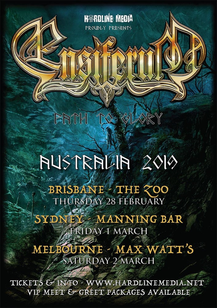 Image of ENSIFERUM - Aussie Tour Poster