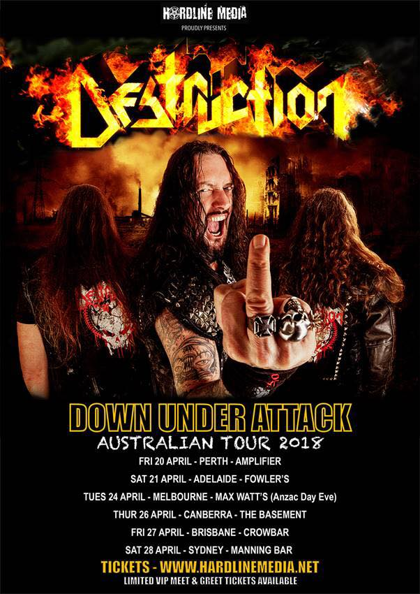 Image of DESTRUCTION - Australian Tour Poster - 2018