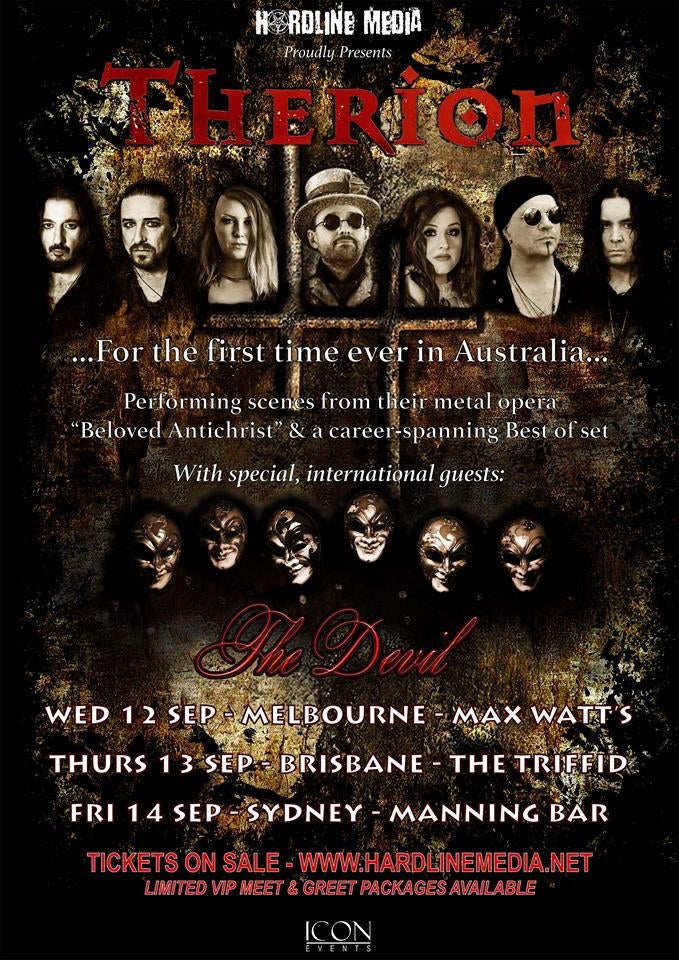 Image of THERION - Australian Tour Poster - 2018