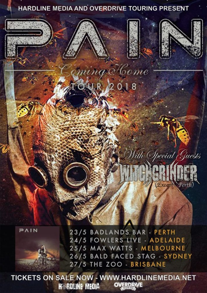 Image of PAIN - Australian Tour Poster - 2018