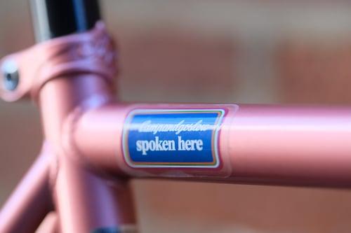 Image of Spoken Here Sticker 2-pack