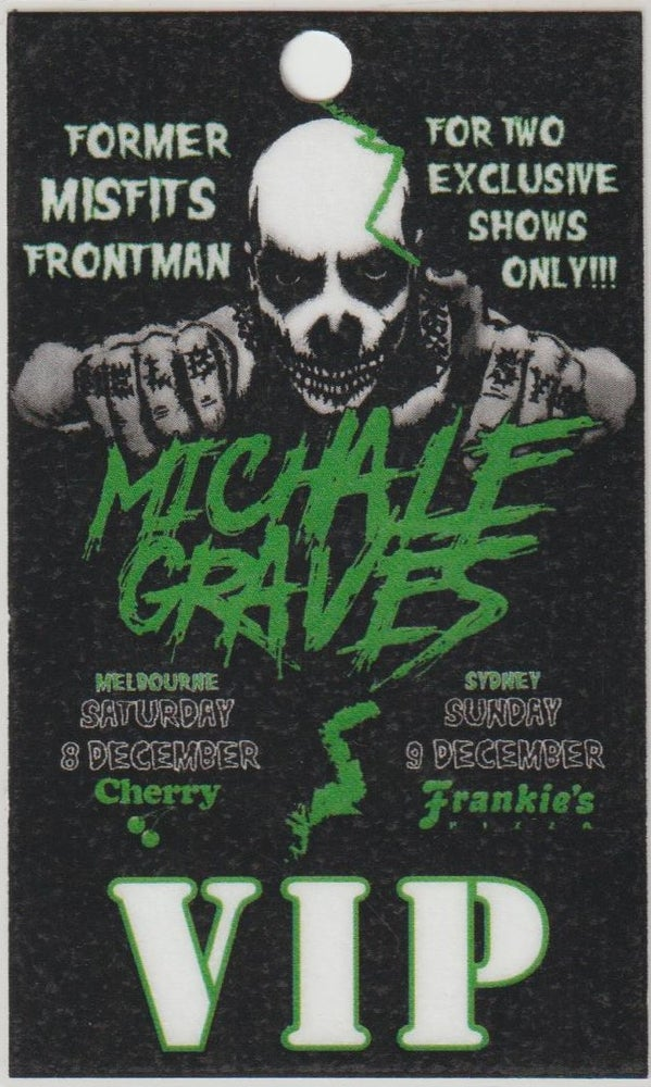 Image of MICHALE GRAVES - Aussie Tour - VIP Laminate