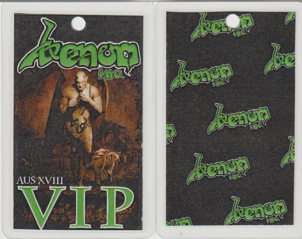 Image of VENOM INC - Australian Tour 2018 - VIP Laminate