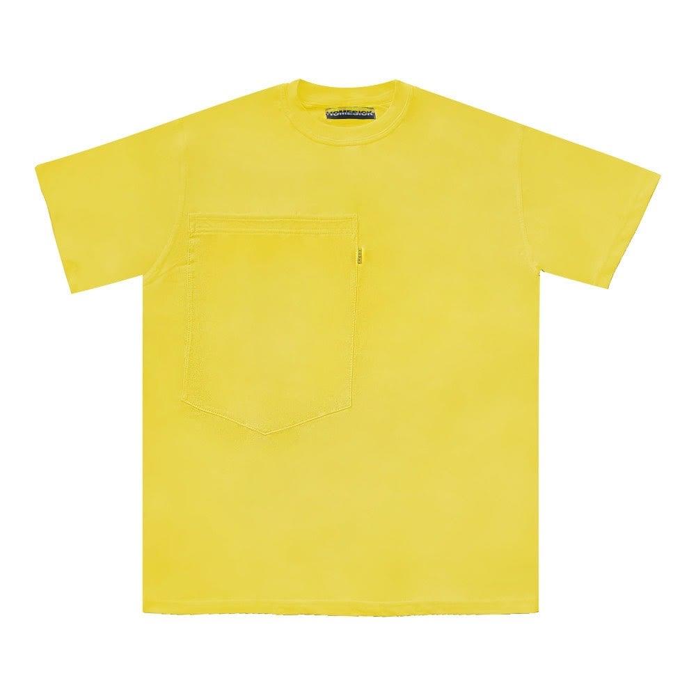 Image of Oversized Pocket Tee (Yellow)