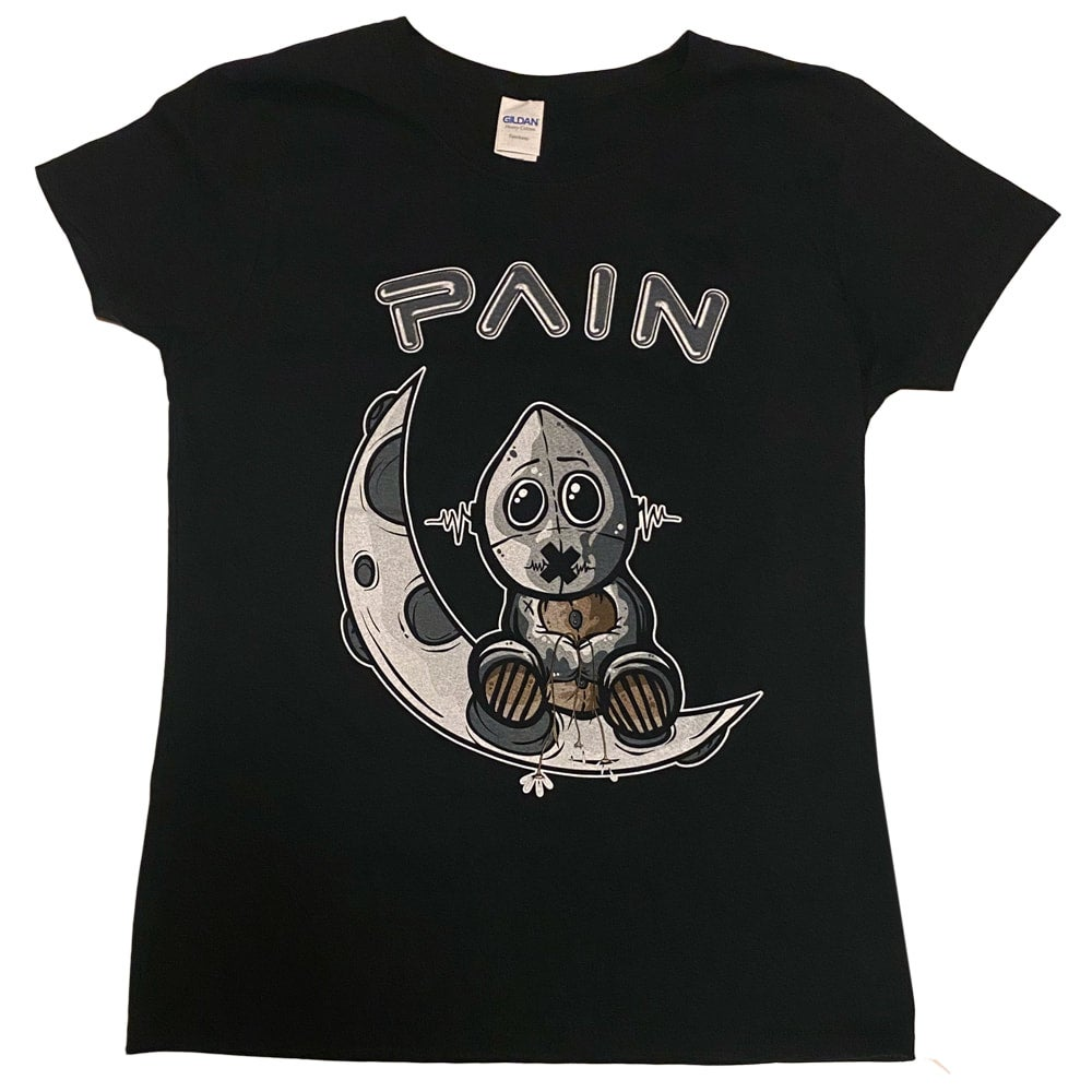 Image of PAIN - Lady Moongirl - Aussie Tour Shirt/Ladies Fit - Dates on Back