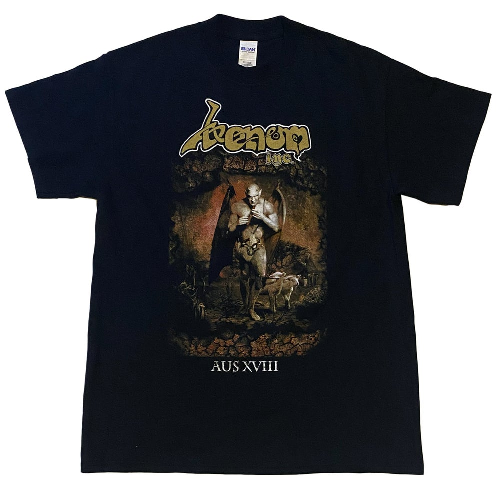 Image of VENOM INC - Ave Australis - Aussie Tour Shirt/Dates on Back