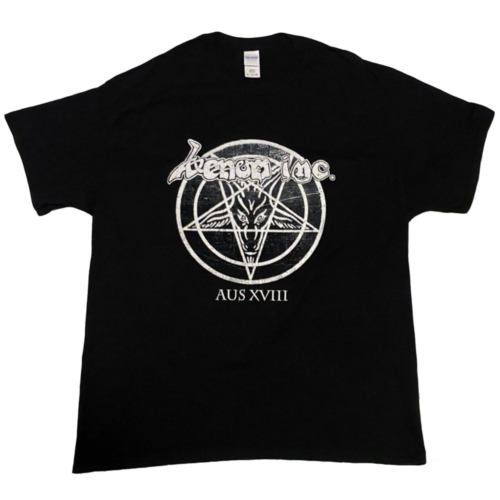 Image of VENOM INC - Pentagram - Aussie Tour Shirt/Dates on Back