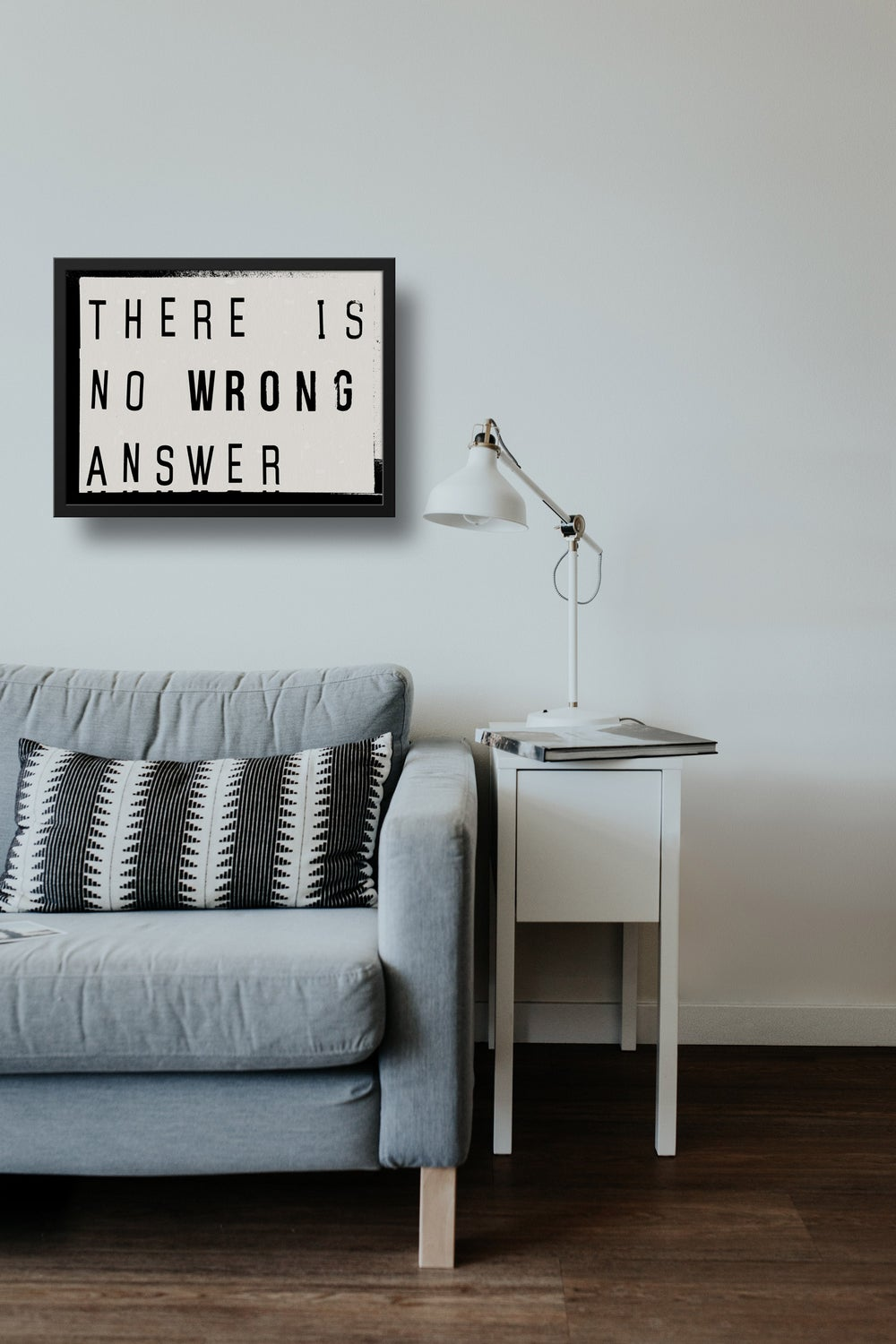 There Is No Wrong Answer Lightbox Quote