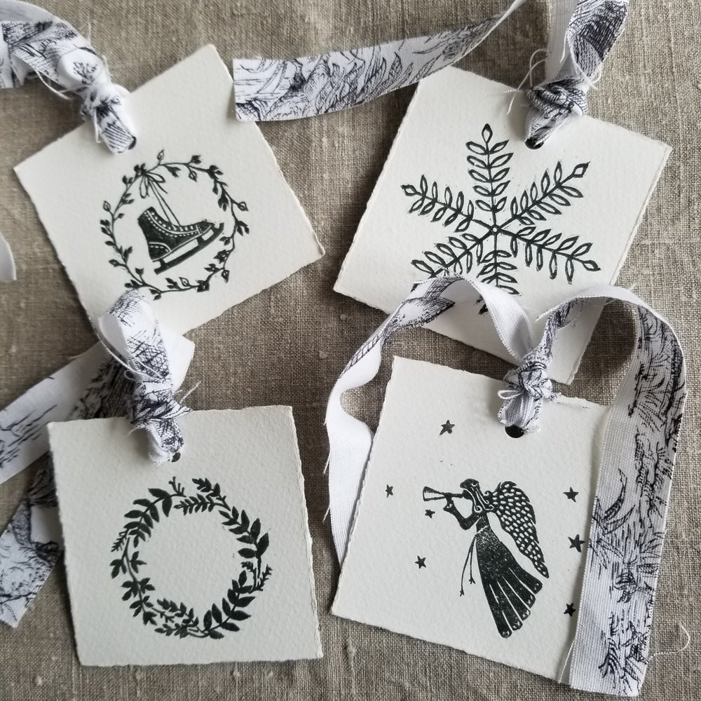 Image of Gift Tags - Set of 4 - Grey