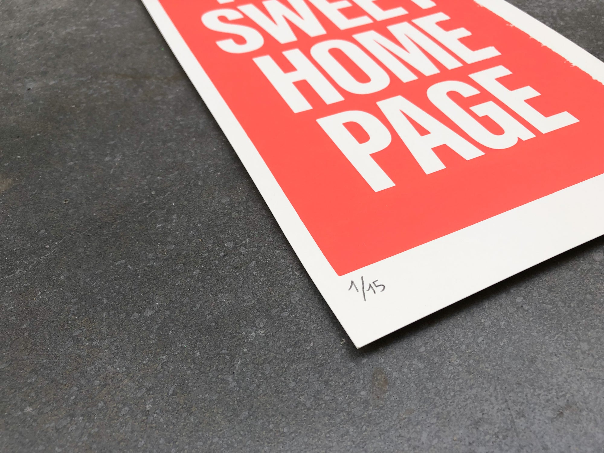 Image of Home Page Sweet Home Page Screenprint