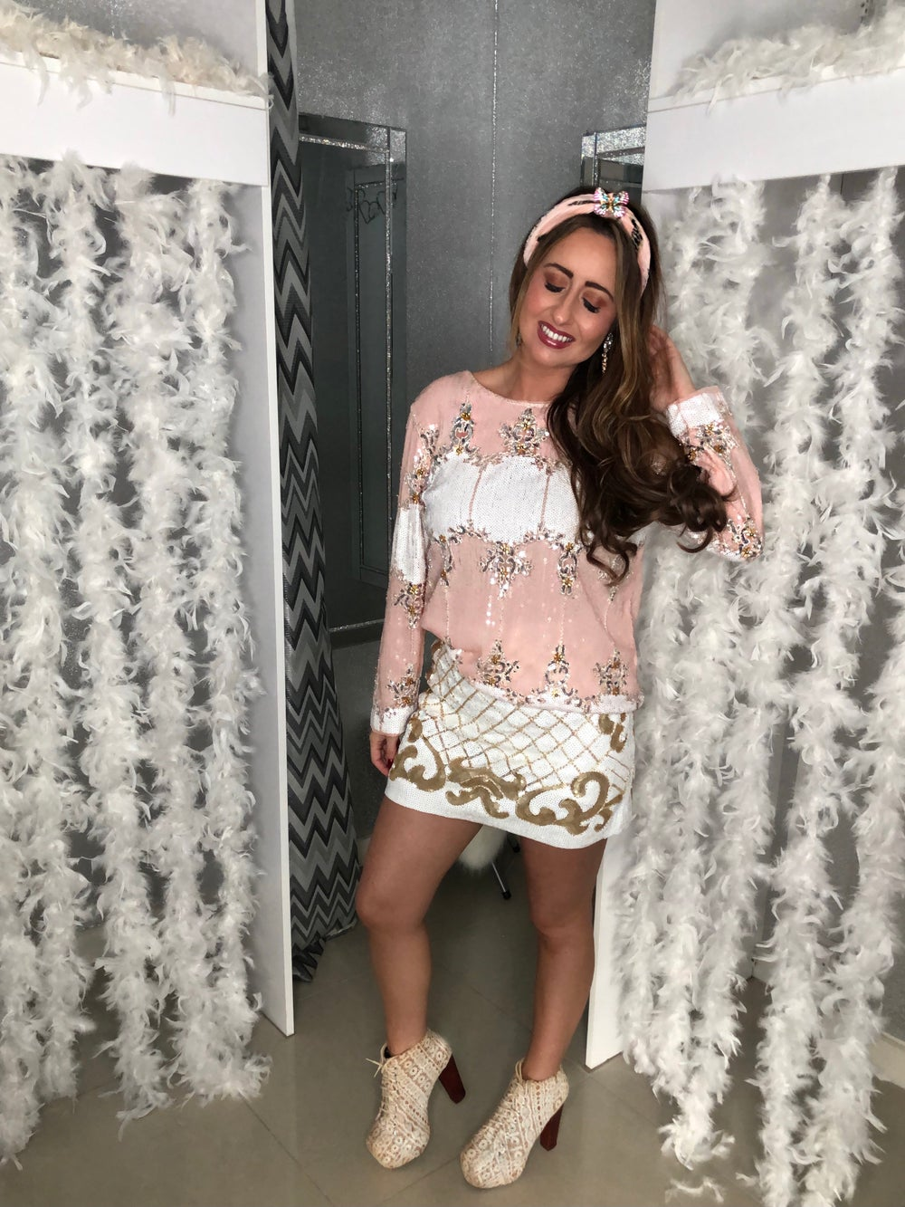 Image of Pink Sequin Co-Ord Set