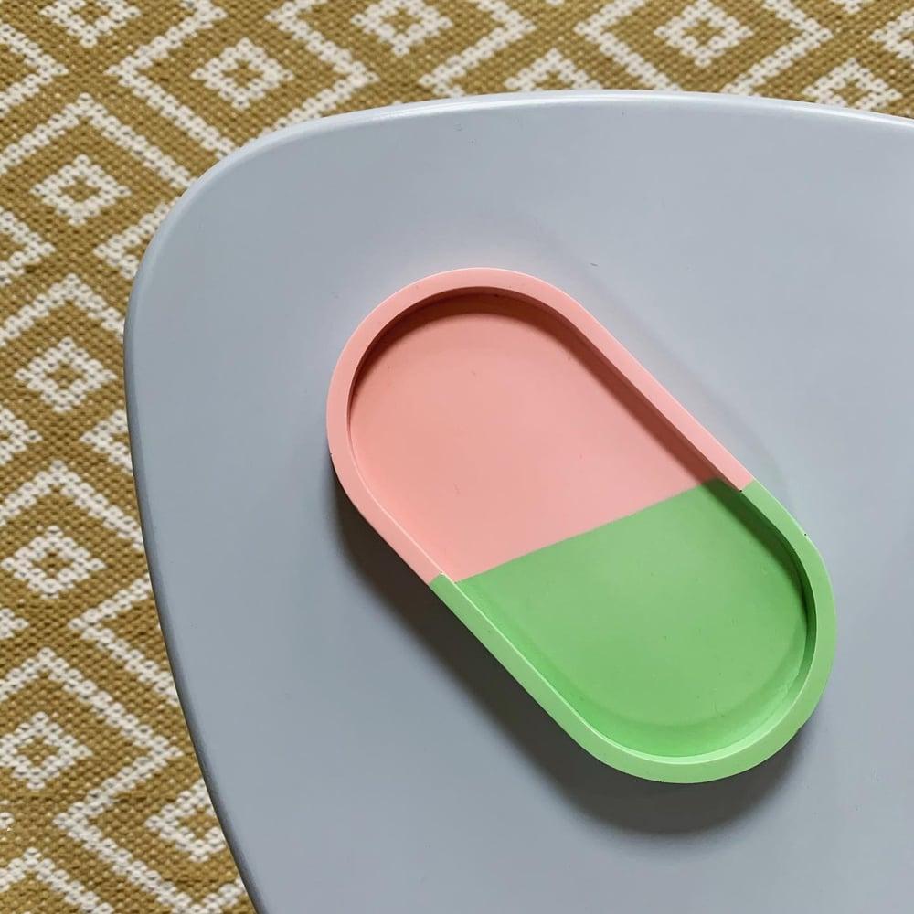Image of Jesmonite Two-Tone Trinket Tray