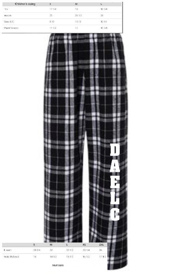 Image of Unisex black and white buffalo plaid flannel pants