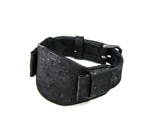 Image of Black Meterorite Cork Bund Strap