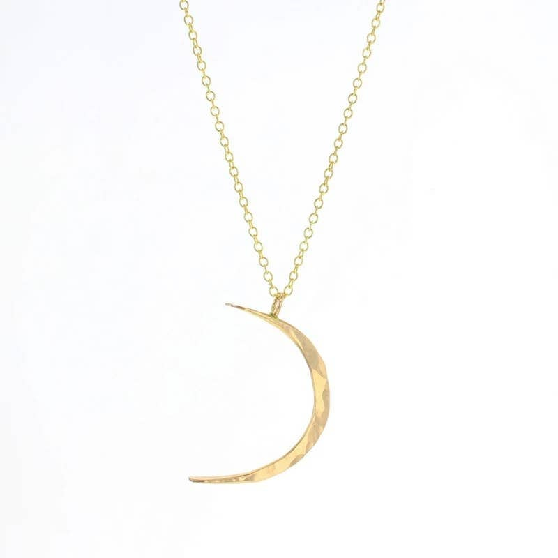 Image of Hammered Crescent Moon Necklace