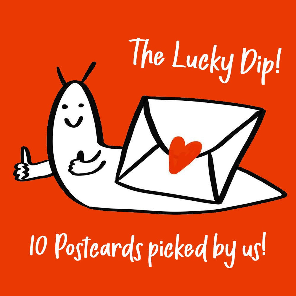 The Lucky Dip - 10 x A6 Festive Art Postcard Pack + Magnet!