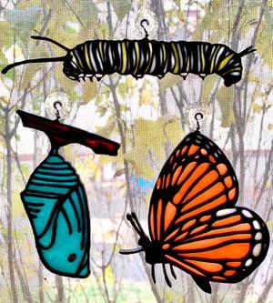 Image of Monarch Metamorphosis Ornament Set