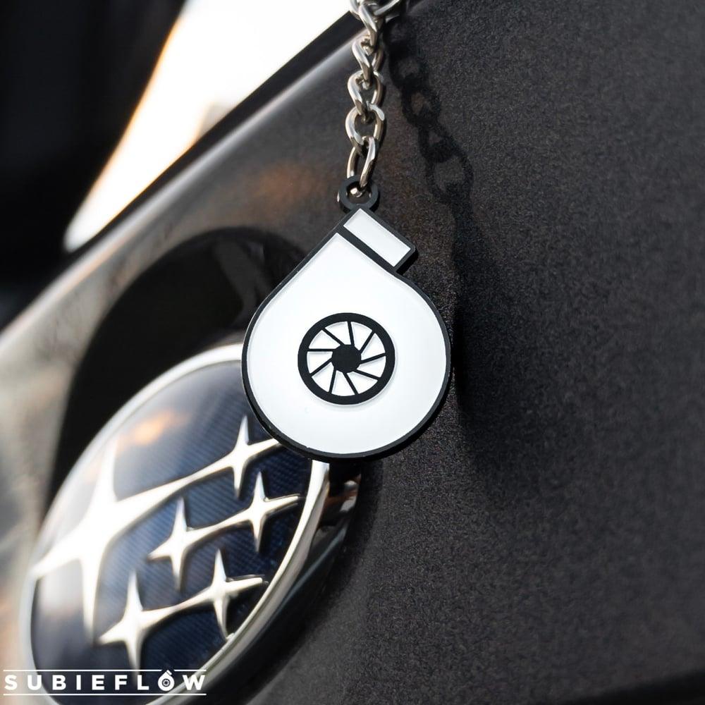 Image of Turbo Enamel Keychain