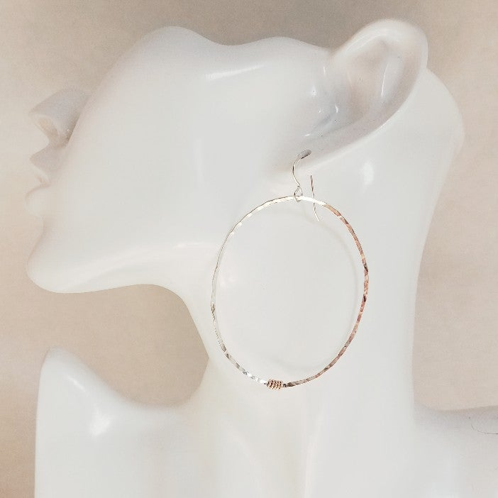 Image of Looking glass hoops #6 wide
