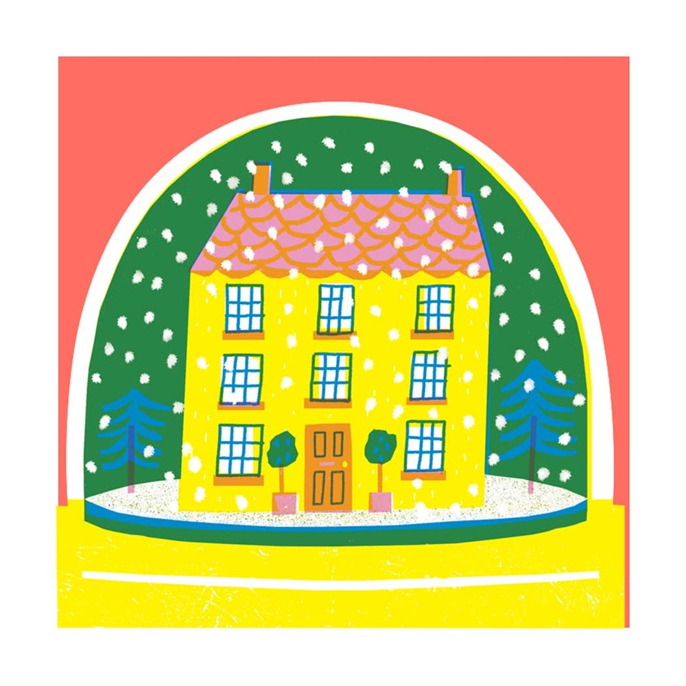 Image of House Snowglobe Card