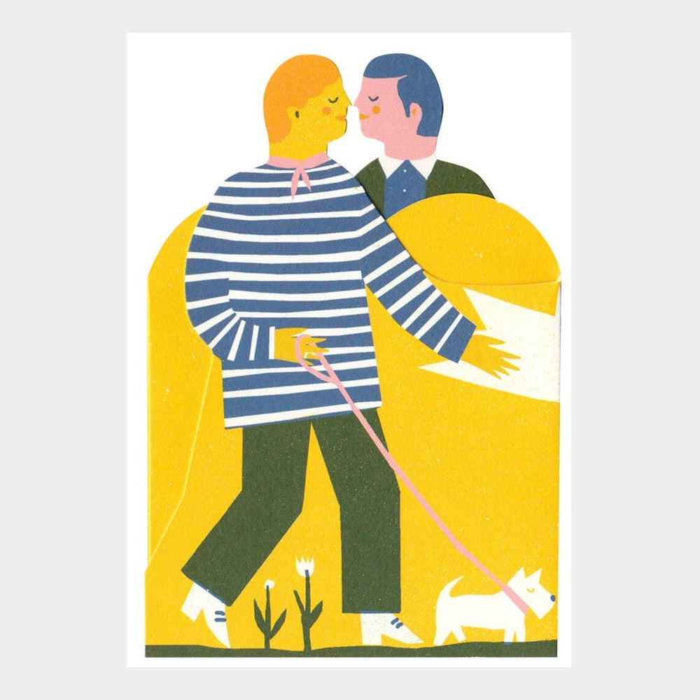 Image of Two Men Tri-Fold Card