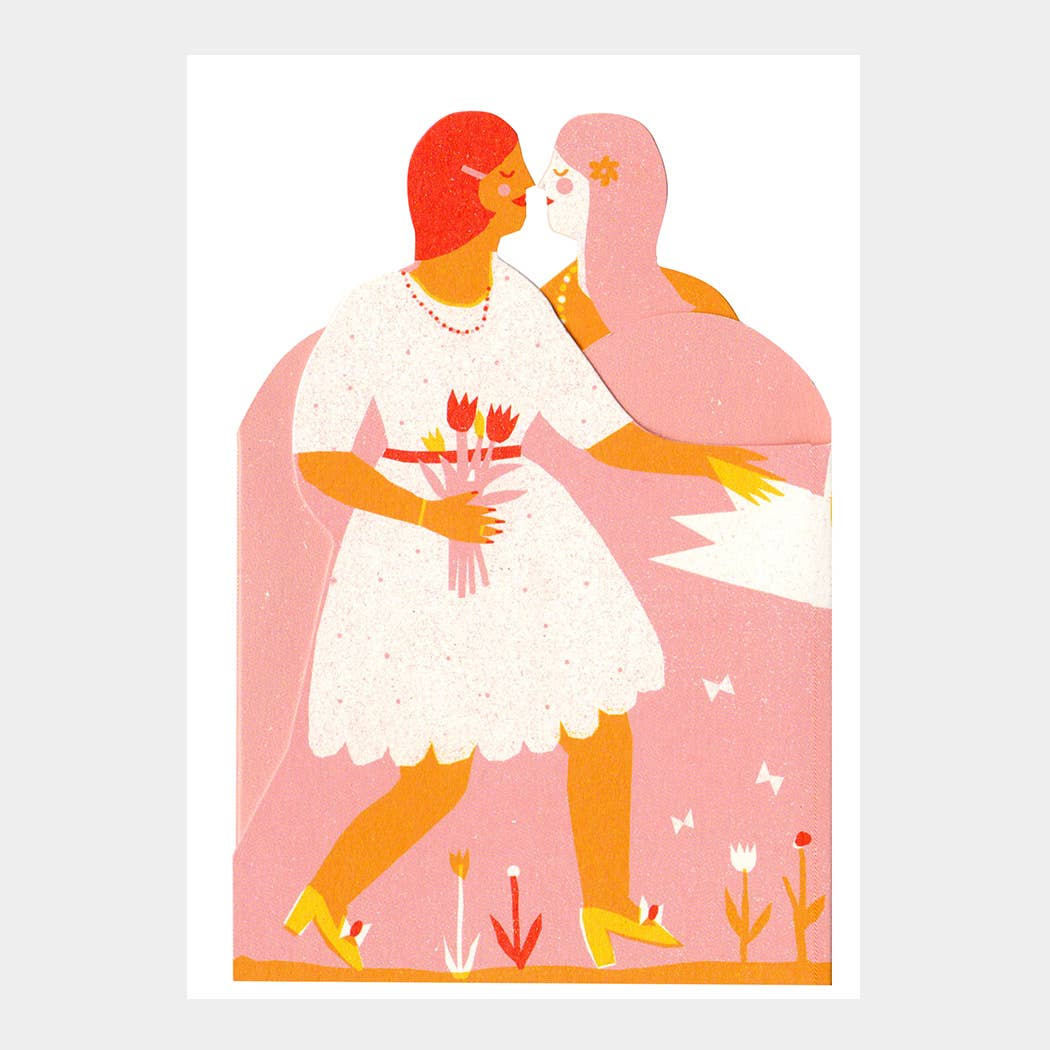 Image of Two Women Tri-Fold Card