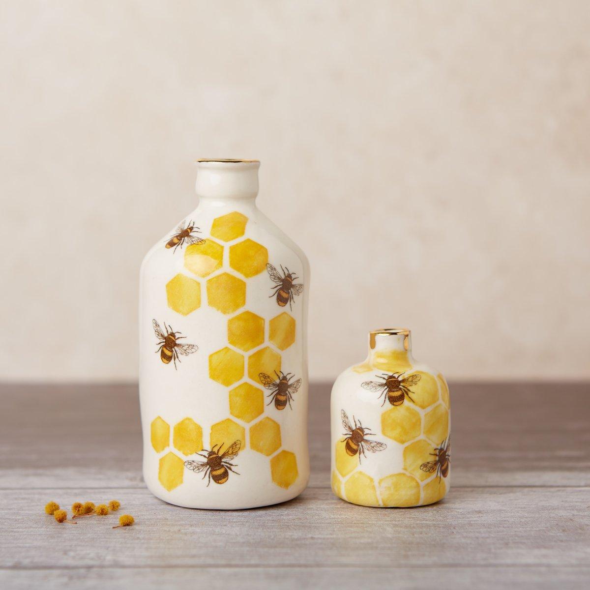 Porcelain bee bottle