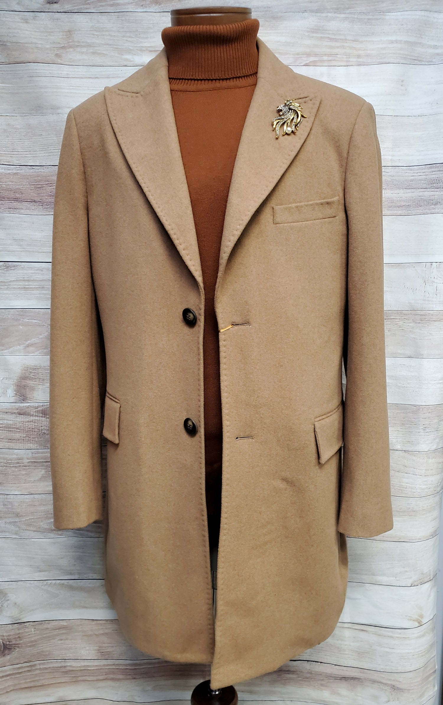 Image of CIGAR COUTURE TOP COAT STYLE TC-930 - CAMEL
