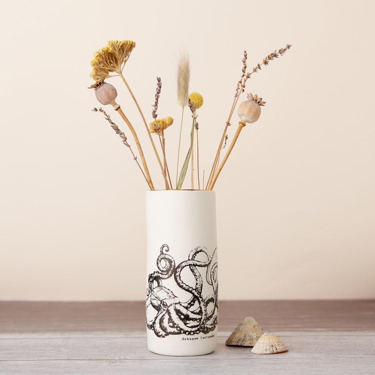 Porcelain Octopus Vase