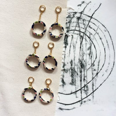 Image of Hoop drop earrings