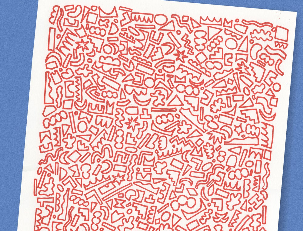 Image of RED SHAPES PRINT