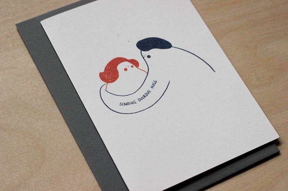 Image of MFEO Handmade 'Overdue Hug' Greeting Card