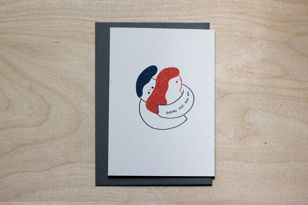 Image of MFEO Handmade 'Sending Hugs Your Way' Greeting Card