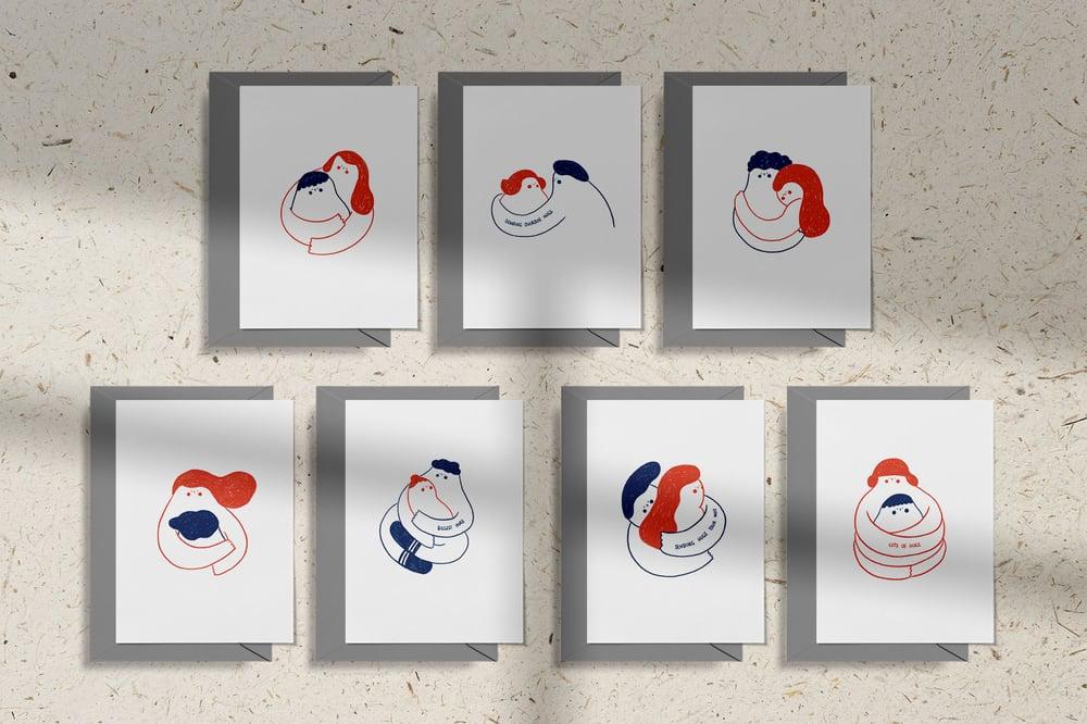 Image of MFEO Handmade 'Sending Hugs Your Way' Greeting Card