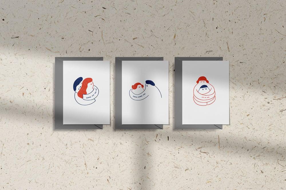 Image of MFEO Handmade 'Lots of Hugs' Greeting Card