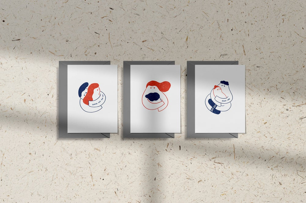 Image of MFEO Handmade 'The Biggest Hug' Greeting Card
