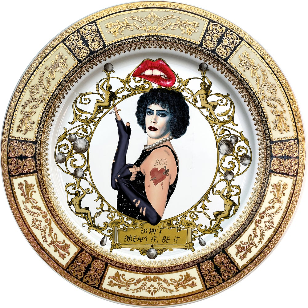 Image of TRHPS - Rocky Horror - Large Fine China Plate - #0744